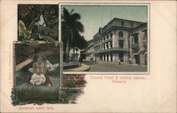 Central Hotel & Wolfes Saloon, panama Postcard