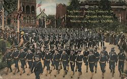 The Great Naval Parade of American Sailors at Sydney Postcard