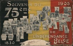Souvenir of the 75th Anniversary of Belgian Independence, 1830-1905 Postcard