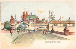 Glasgow Exhibition Viewed from the west Postcard