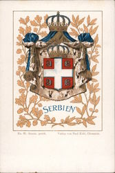 National Arms of Serbia Postcard