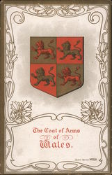 The Coat of Arms of Wales Postcard