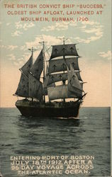 "British Convict Ship ""Success"" Postcard"