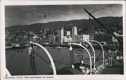 Valparaiso (Chile), Port panoramic view Postcard