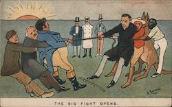 The Big Fight Opens Postcard