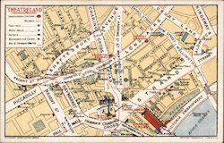 Map of Theatreland Postcard