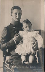 Wilhelm, German Crown Prince With His Son