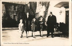 Crown Prince Olaf of Norway and His Family in America