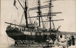 """City of New York"" Byrd's Antarctic Ship, displayed at Chicago 1933 World's Fair Postcard"
