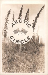 Arctic circle sign Postcard
