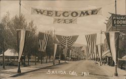 Welcome G.A.R.1911, Parade Decorations, Palace Hotel Postcard