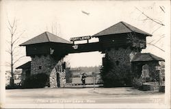 Main Gate, Fort Lewis, Wash. Postcard