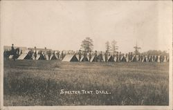 Shelter Tent Drill WWI