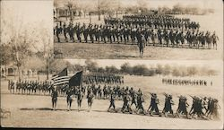 U.S. Army in Marching Formation Postcard