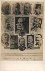 Generals of the Austrian Army Postcard