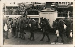 Soldiers boarding ship Postcard