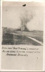 "Shell attack from ""Jack Johnson"" Postcard"