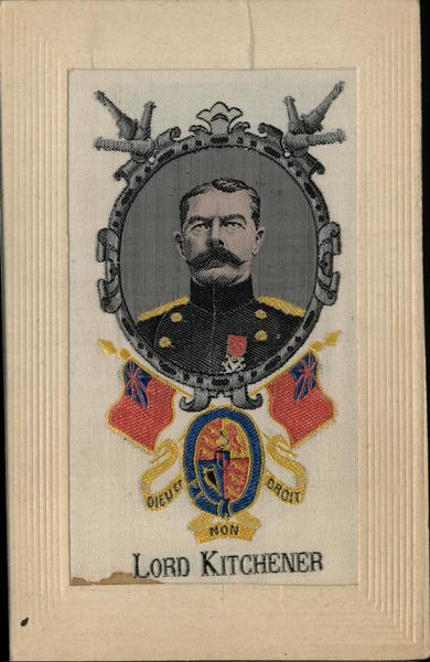 Lord Kitchener Woven in Silk World War I