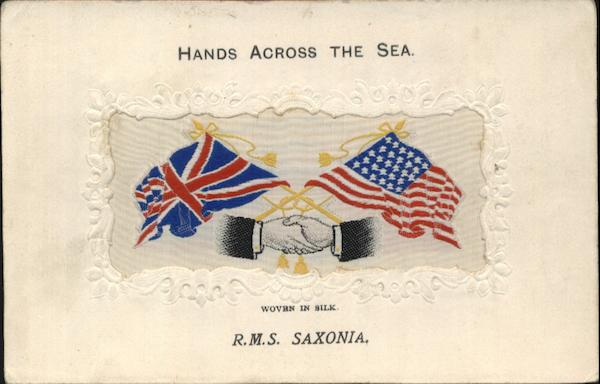 Hands Across the Sea R.M.S. Saxonia World War I
