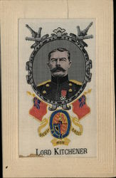 Lord Kitchener Woven in Silk Postcard