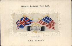 Hands Across the Sea R.M.S. Saxonia Postcard
