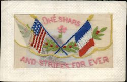 Ohe Shars and Stripes for Ever - US & France Flags Postcard