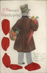 "A Blessed Thanksgiving ""To Receive Honestly Is The Best Thanks"" Postcard"