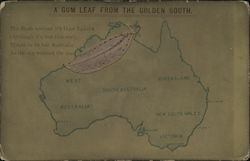 A Gum Leaf from the Golden South Postcard