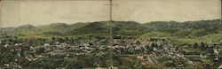 Panoramic view of Cloverdale, California Postcard