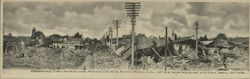Panoramic View after Earthquake and Fire at Fourth and Mendocino Sts Postcard