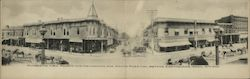 Panorama of Fourth and Mendocino Sts, before Earthquake April 18, 1906 Postcard