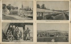 Chinese Refugee Camp, Cottages and Barracks Postcard