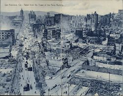 After the Earthquake - Taken from the Tower of the Ferry Building Postcard