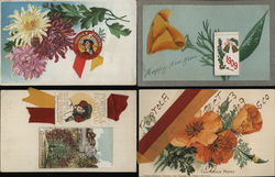 Lot of 40 Portola Festival 1909 Novelty Postcards, Ephemera Postcard