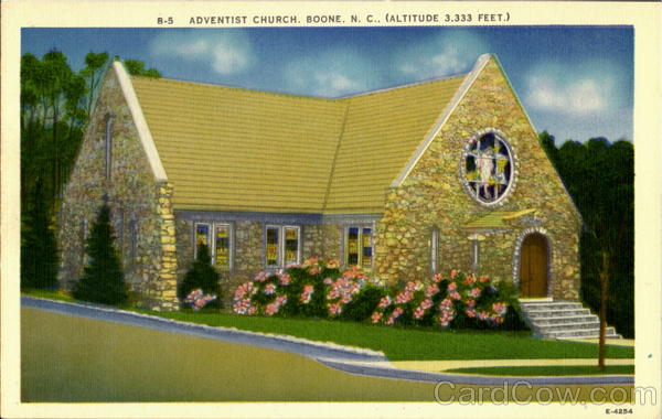 Adventist Church(Altitude 3,333 Feet) Boone North Carolina