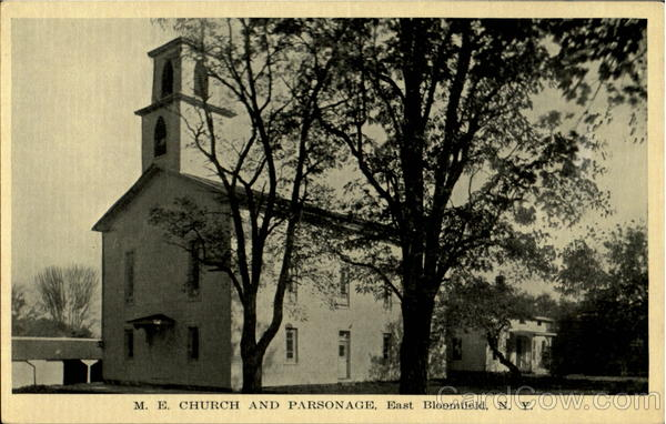 M.E Church and Parsonage East Bloomfield New York