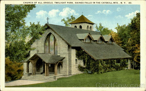 Church Of All Angels Hains Falls In The Catskill Mts. New York