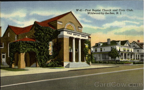 First Bapist Church And Civic Club Wildwood-By-The-Sea New Jersey