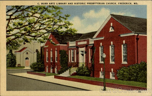 Burr Artz Library And Historic Presbyterian Church Frederick Maryland