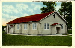 St. Mary'S Of The Of The Woods, On Indian Lake Postcard