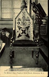 The Bishop'S Chair, Property Of Christ Church Postcard