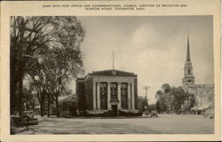 Bank With Post Office And Congregational Church, Junction Of Brockton And Tauton Roads