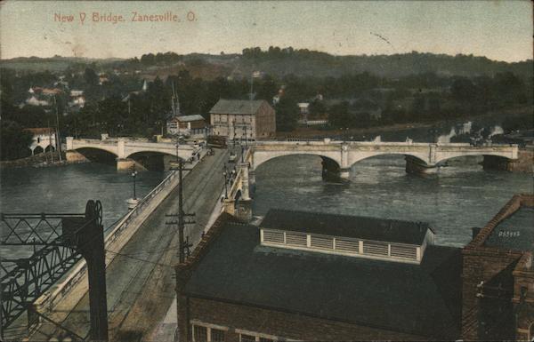 New Y Bridge Zanesville Ohio