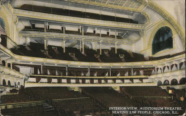 Interior View, Auditorium Theatre Chicago Illinois