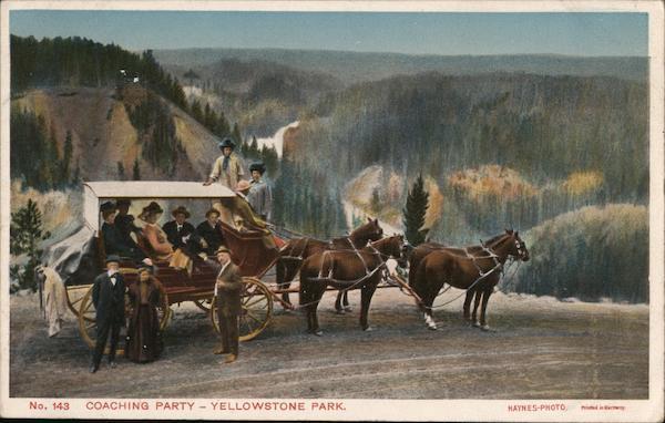 Coaching Party - Yellowstone Park Hayes Photo Yellowstone National Park