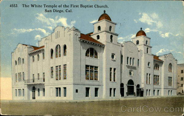 The White Tample Of The First Bapist Church San Diego California
