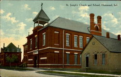 St. Joseph's Church and School Postcard