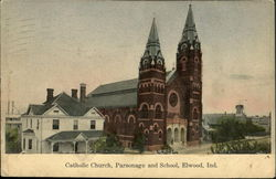 Catholic Church, Parsonage and School