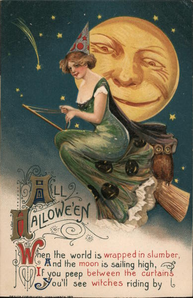 All Halloween When The World Is Wrapped In Slumber, And The Moon Is Sailing High