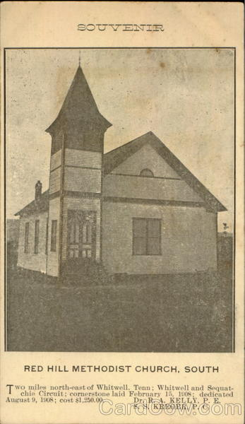 Red Hill Methodist Church, South Souvenir of Whitwell Tennessee